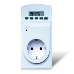 Schuko socket thermostat + Timer, battery powered